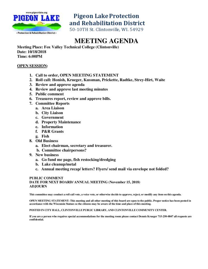 thumbnail of PIGEON LAKE MEETING OCTOBER 18 2018
